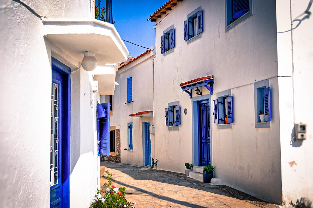 Backstreet, Skiathos, Greece